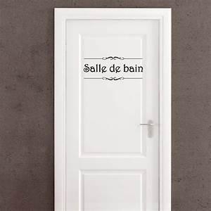 Porte De Salle De Bain : sticker porte salle de bain et toilettes pas cher ~ Dailycaller-alerts.com Idées de Décoration