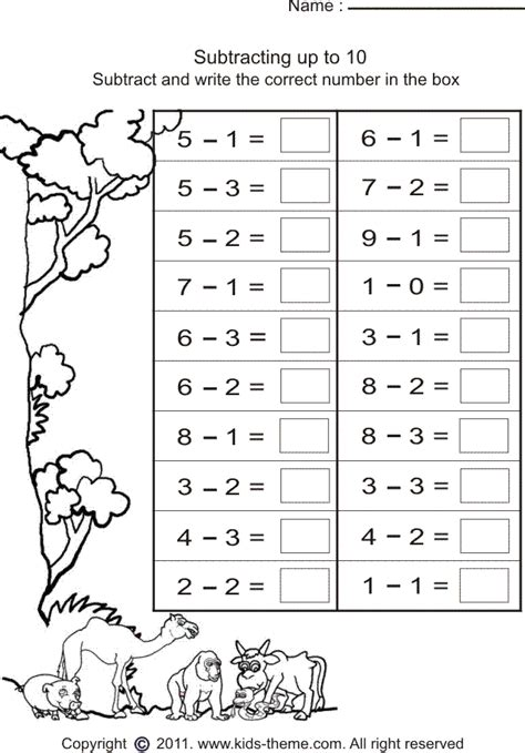 simple subtraction worksheets oxford admission helpers