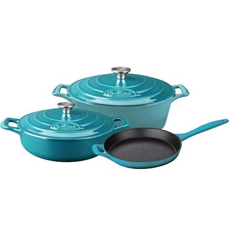 pots cuisine la cuisine pro 5 enameled cast iron cookware set