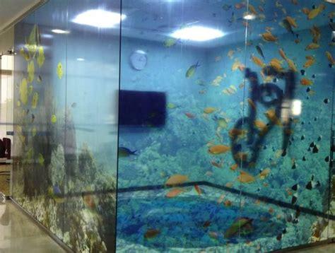 aquarium conference room printed clear window film