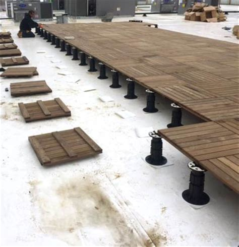 Tile Tech Ipe Pavers by Modular Decking Tiles For Pedestal Supported Roof Decks