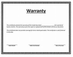 Warranty certificate template microsoft word templates for Warranty template word