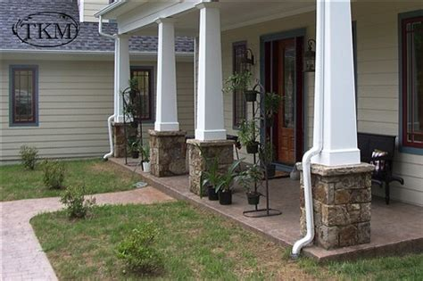 Rock Columns Porch by Column Bases Porch Posts By Masons