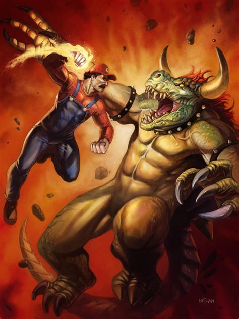 Mario Vs Bowser By Nathanrosario On Deviantart