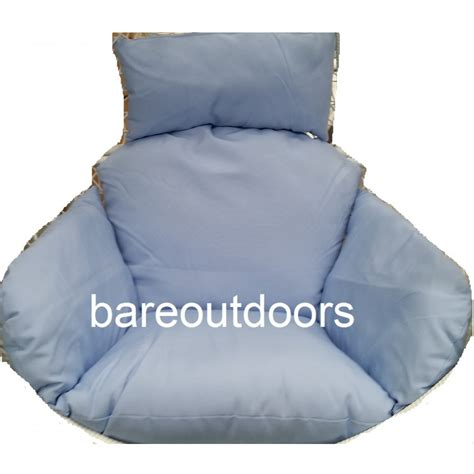 outdoor hanging swing pod chair cushions light blue