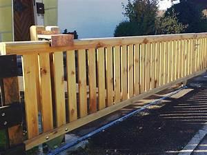 Geländer Aus Holz : gel nder schiebetor ab 229eur holz gartentor stabil mit handlauf ~ Buech-reservation.com Haus und Dekorationen