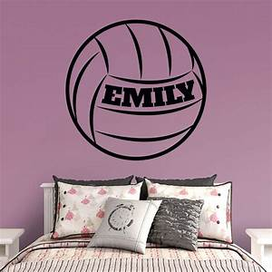 volleyball personalized name wall decal shop fathead With fathead wall decals