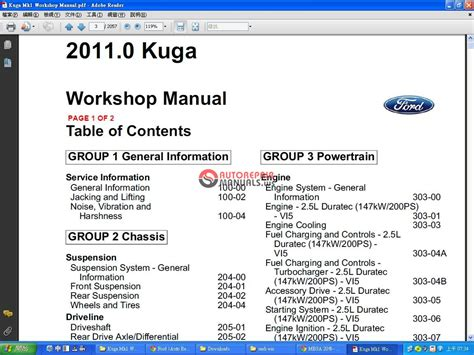 ford kuga 2011 mk1 workshop manual auto repair manual forum heavy equipment forums