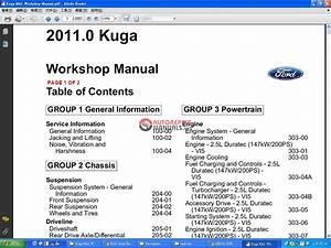 Ford Kuga Mk1 2011 Workshop Manual Wiring Diagram Auto