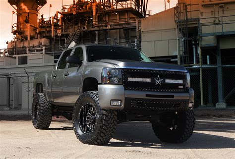Lifted Chevy Silverado Off Road  Off Road Wheels