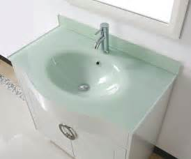 Sink Bowls For Bathrooms by Zoe 36 Quot White Bathroom Vanity Glass Top
