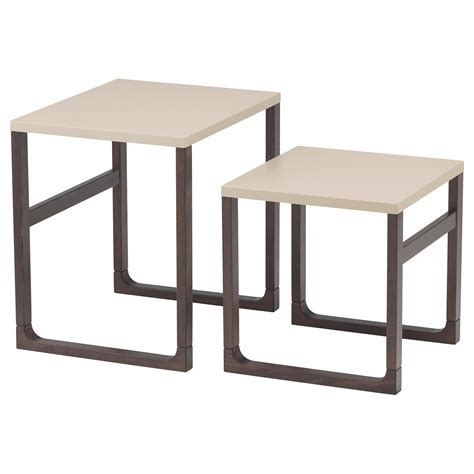 ikea coffee tables and end tables rissna nest of tables set of 2 beige ikea