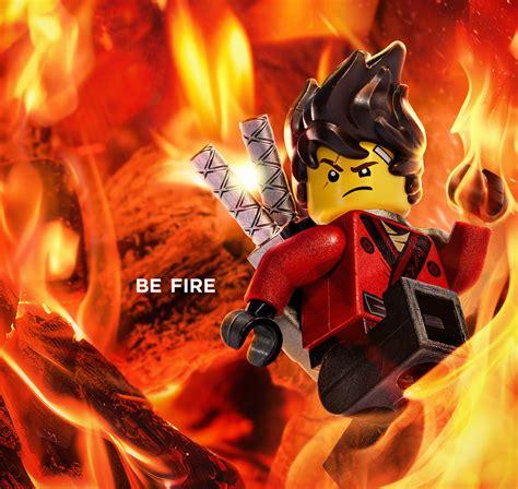 wallpaper kai  lego ninjago   fire animation