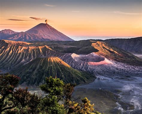 landscape volcanic mountains hd desktop wallpaper