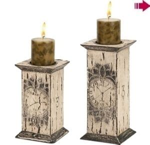 french wooden pillar candle holders wooden candle