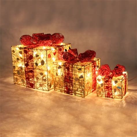 light up christmas l post fairy lit christmas parcel decorations