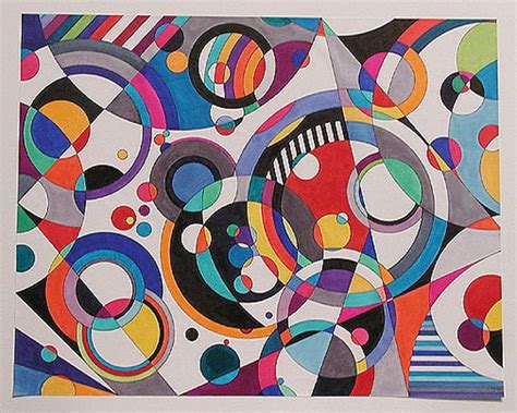 Abstract Shapes Painting by Items Similar To Eye Version 3 Abstract Modern