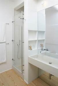 Salle De Bain Etroite : gain de place petite salle de bain sur pinterest c t maison ~ Melissatoandfro.com Idées de Décoration
