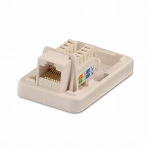 Cat6 Single Wall Mount Box Utp  Rj-45  T568a  T568b