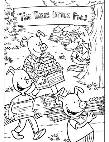 pigs coloring page tims printables
