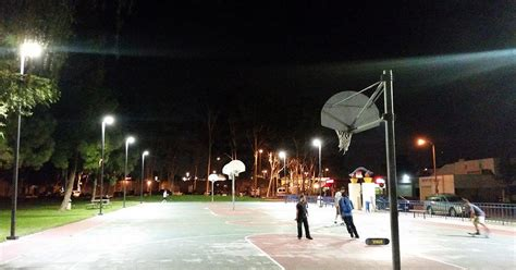 lighting   pole led basketball courts  california