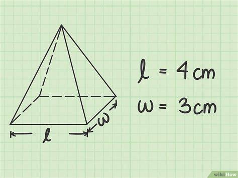 como calcular  volume de uma piramide  passos