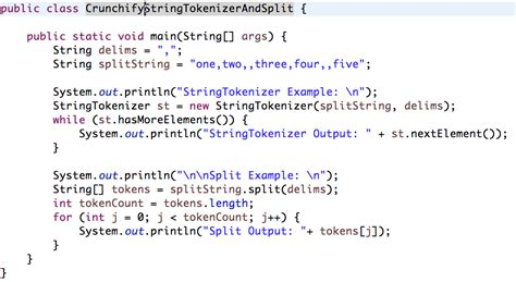 java template java stringtokenizer and string split exle split by new line crunchify