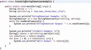 java stringtokenizer and string split example split by With java string template
