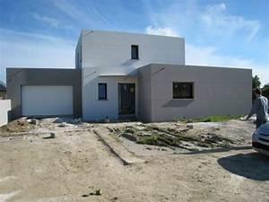 photo de maison moderne toit plat With delightful maison toit plat en l 3 photo de maison en pierre moderne toit plat