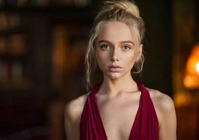 Maximov Maxim Popova Maria Blonde Portrait Face