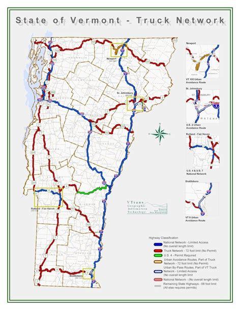 vermont truck road network ezbordercrossing