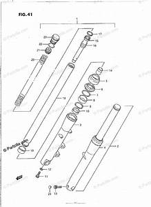 Suzuki Motorcycle 1987 Oem Parts Diagram For Front Fork