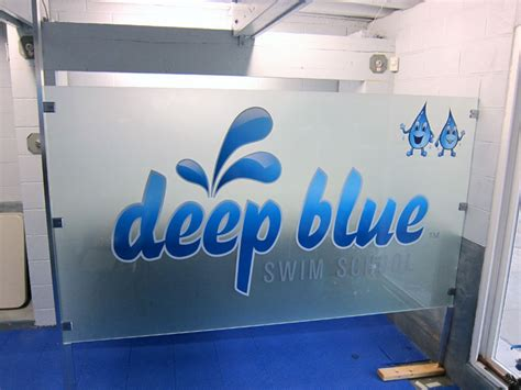 indoor window signs  deep blue  iconography long beach
