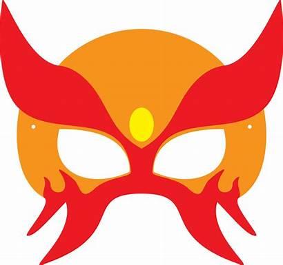 Mask Halloween Superhero Clipart Template Masks Printable
