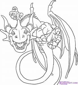 How To Draw Blue Dragon, Step By Step, Cartoon Network ...