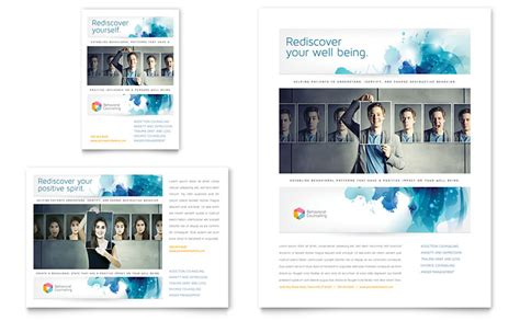 Free Mental Health Brochure Templates by Behavioral Counseling Flyer Ad Template Word Publisher