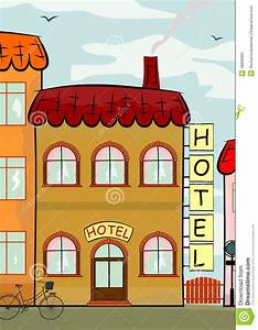 Hotel stock vector. Image of place, city, landmark ...