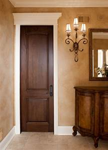 Interior Door Custom - Single - Solid Wood with Walnut