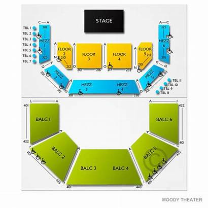 Moody Theater Austin Limits Seating Chart Map