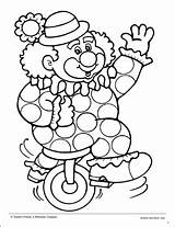 Unicycle Pages Printable Coloring Sheet Template Preschool sketch template
