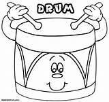 Drum Coloring Pages Print Colorings Drum3 sketch template