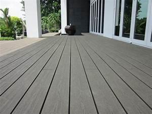 Composite Pour Terrasse : lame composite pleine pour construire une terrasse en bois ~ Premium-room.com Idées de Décoration