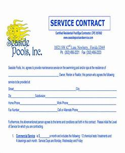 38 contract templates in pdf With pool service contract template