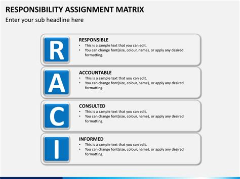 responsibility matrix template responsibility assignment matrix powerpoint template sketchbubble
