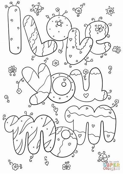 Mom Coloring Pages Thank Printable Getcolorings
