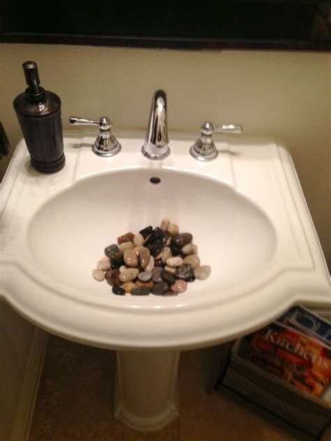 Sink Bathroom Decorating Ideas by Rocks In A Bathroom Sink Rock S N My Bathroom
