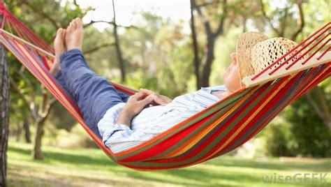 meditative gardener hammock relaxation