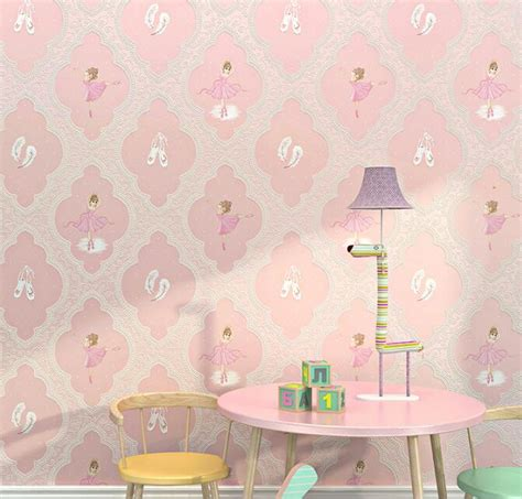 ballet girl pink wallpaper   bedroom purple wall