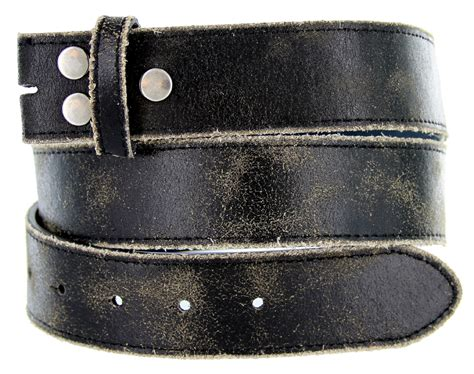 Cowhide Leather Belt by Distressed Cowhide Leather Belt 1 1 2 Wide Black