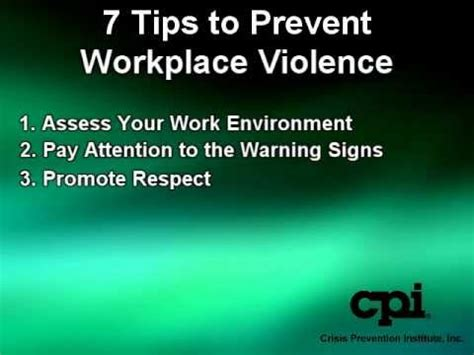 7 Tips To Prevent Workplace Violence Youtube